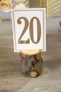 Wood Log Table Number Holders - Beyond Expectations ...