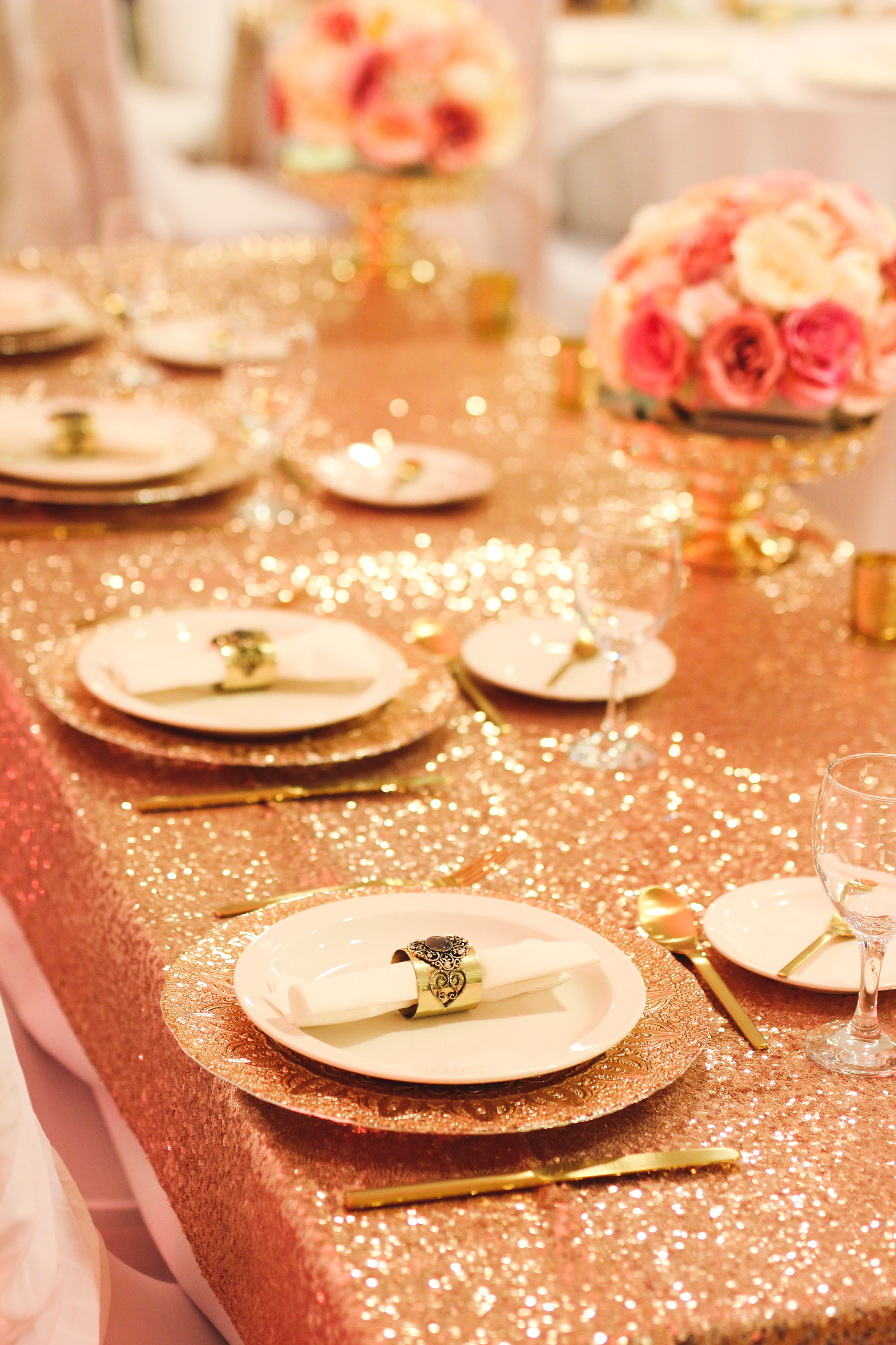 chair covers for hire parties foldable picnic table rose gold glass charger plates - beyond expectations weddings & events