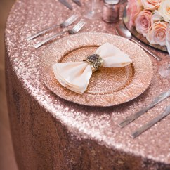 Gold Sequin Chair Covers Folding Upholstered Rose Table Cloth - Beyond Expectations Weddings & Events