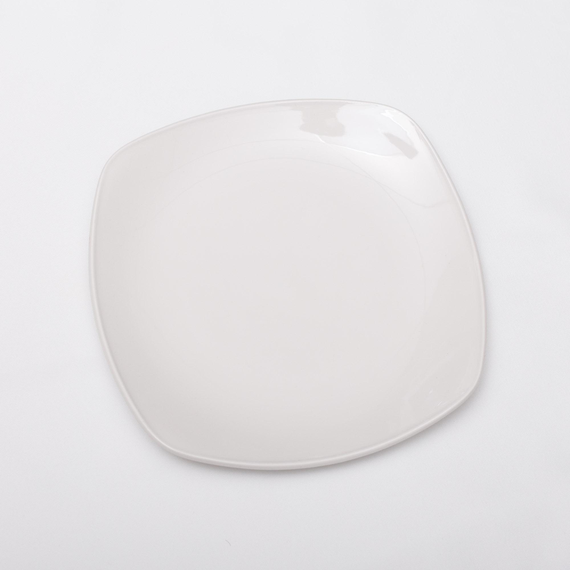 """Dinner Plates 10"""" Plain White Square"""