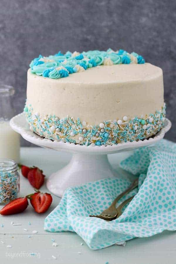 Moist Vanilla Layer Cake Beyond Frosting