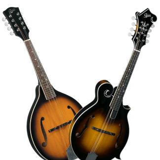 Traditional A and F style mandolins