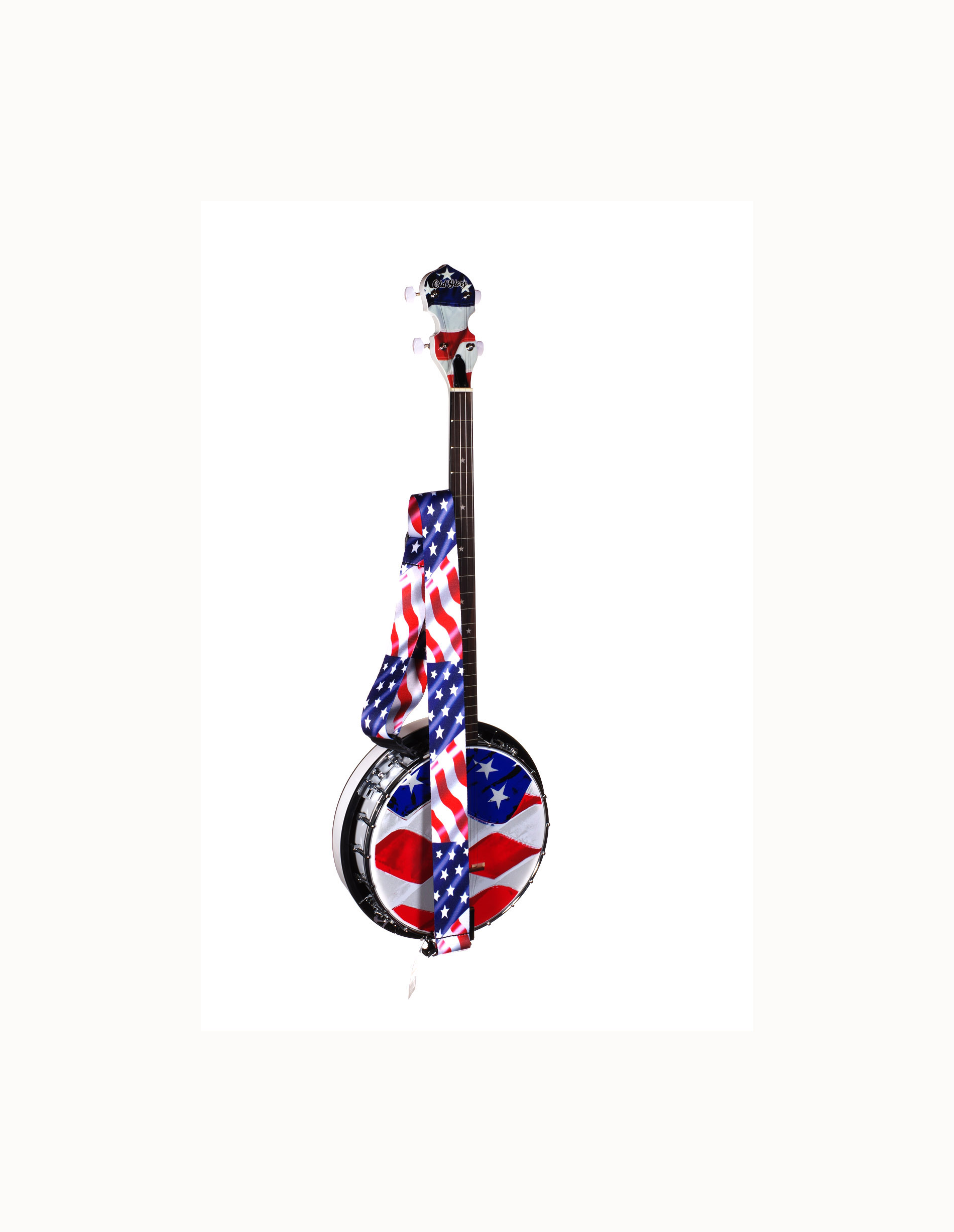 Old Glory Americana Banjo From Morgan Monroe With Extras