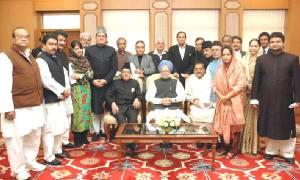 PM Dr Manmohan Singh with the Hajj Goodwill Delegation led by Prof. Saifuddin Soz in New Delhi