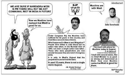 Screenshot of the advertisement published in Indian Express, Delhi Edition