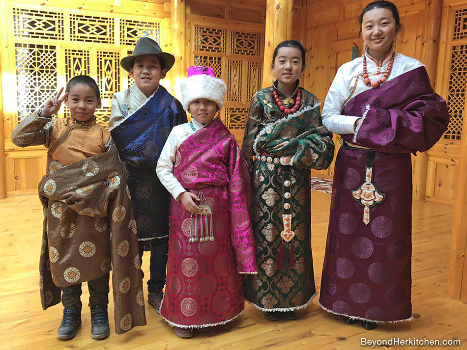 Tibetan children in style