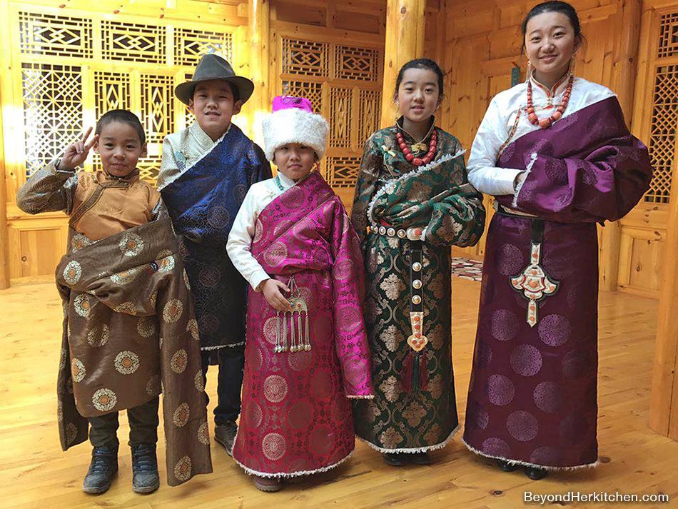 Tibetan children in style