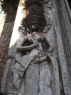 8. Chau Say Tevoda - pictured is a relief of an apsara