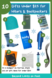 10 Gifts Under $25 for Hikers & Backpackers