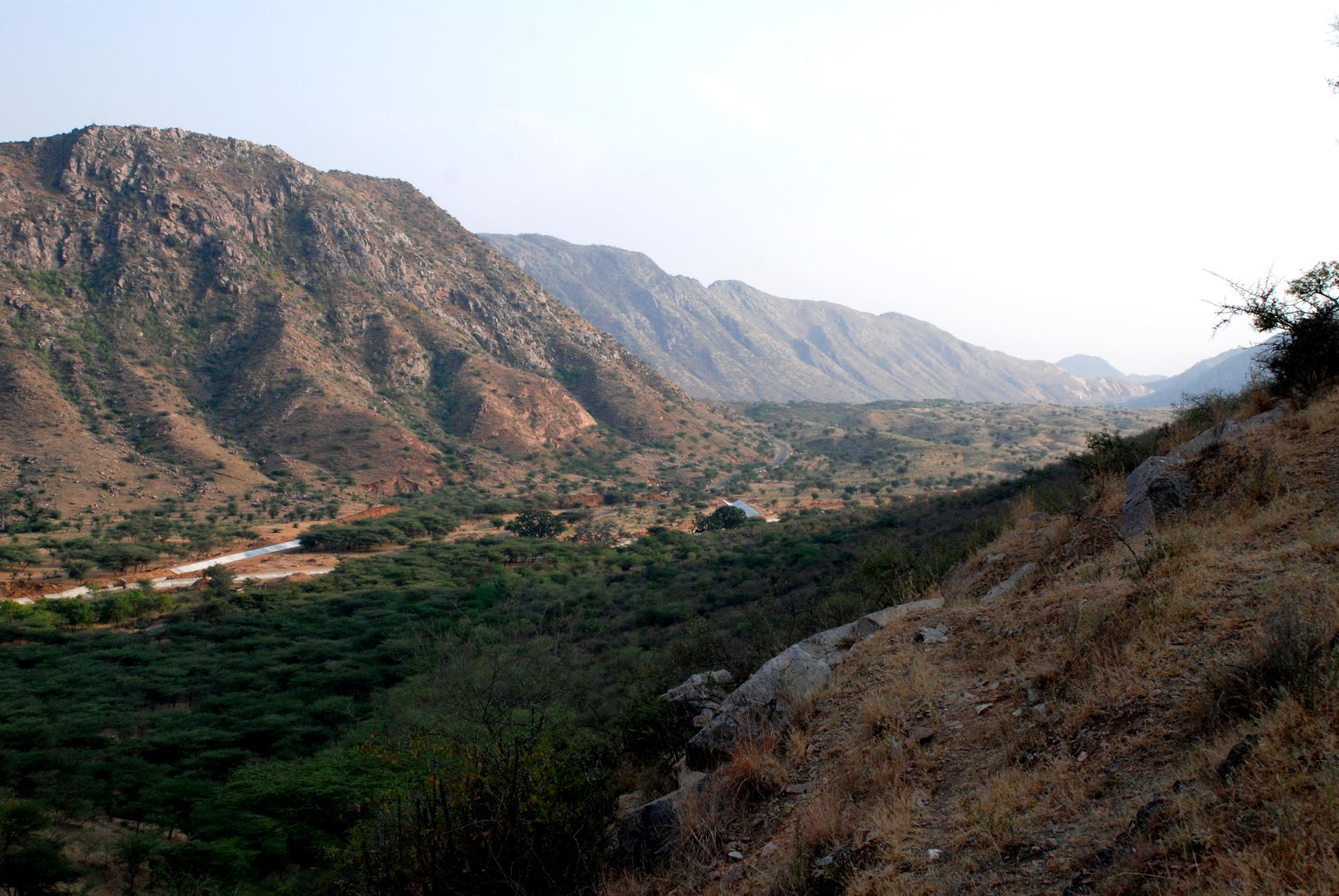 The valley...the road from Ajmer passes through it to reach Pushkar