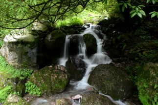 Small waterfall meets slow shutter speed