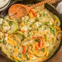Thai Curried Opo Squash and Peppers