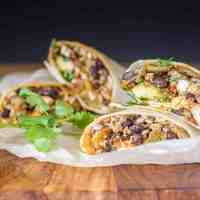 High Protein Vegan Breakfast Burritos