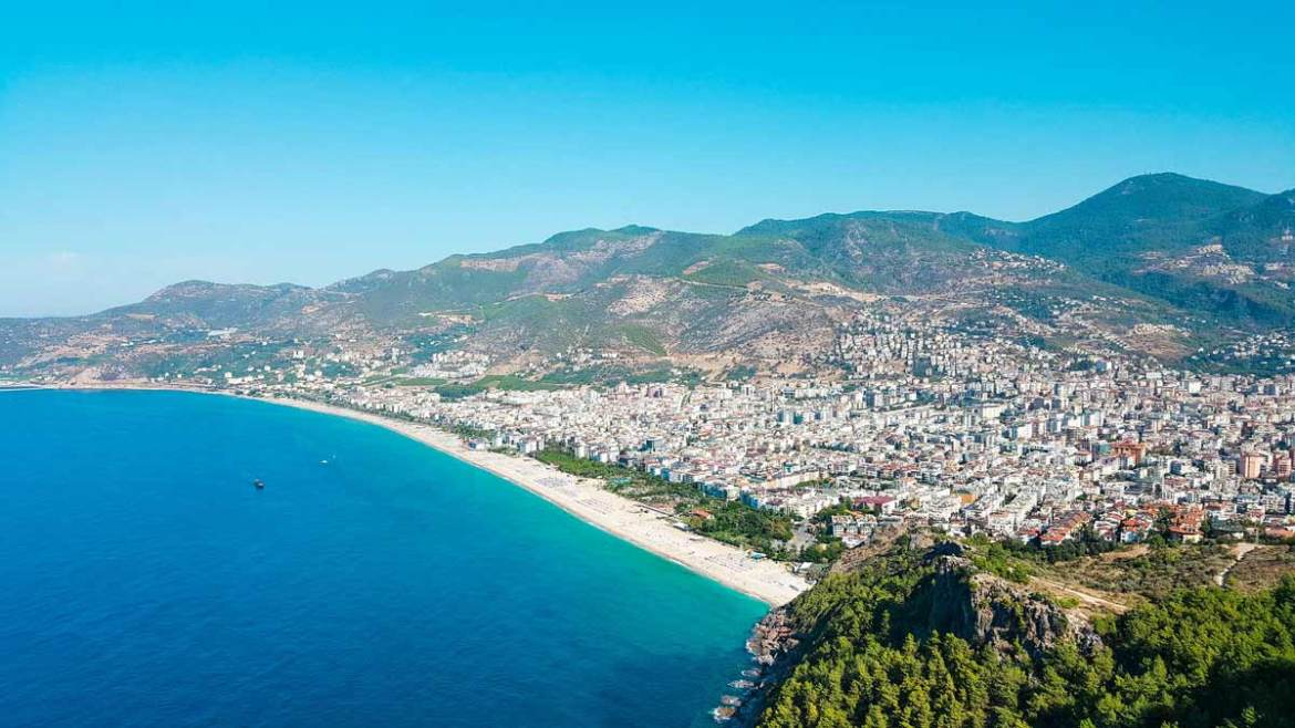 alanya antalya turkey beachside view
