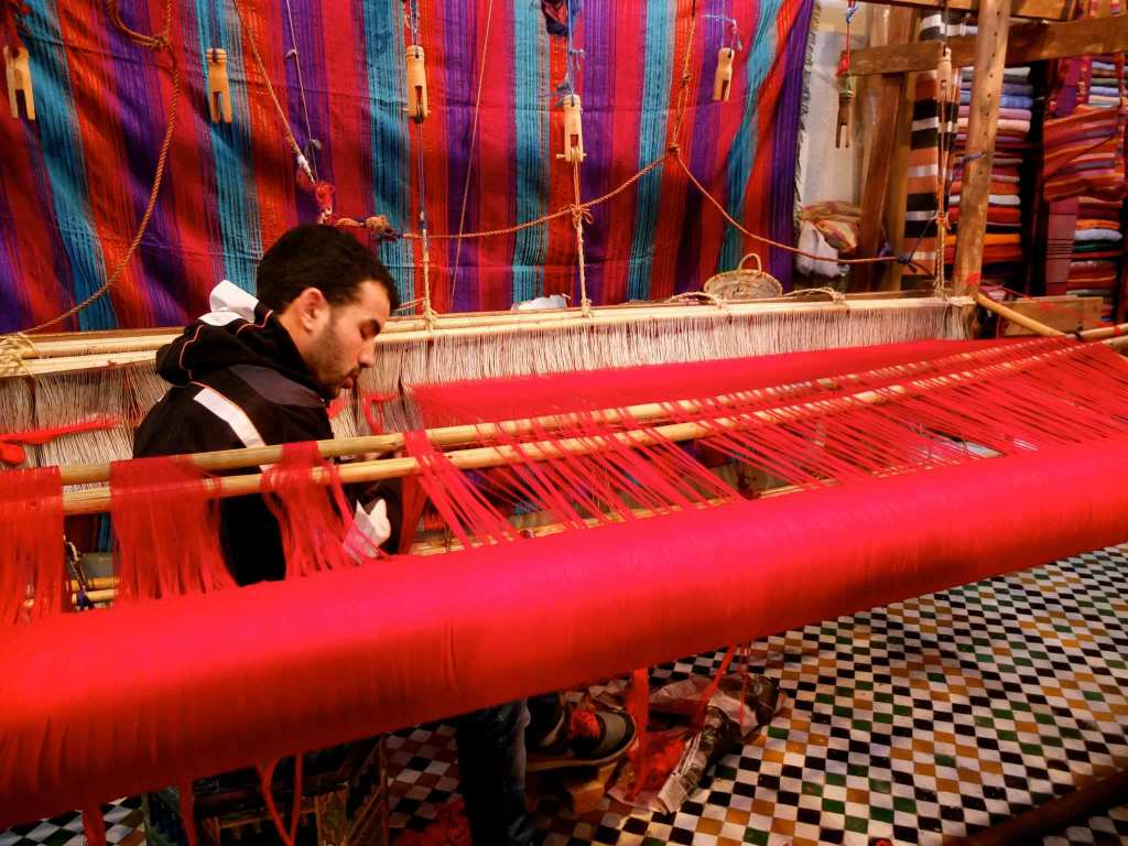 Silk Factory in Fez, Morocco