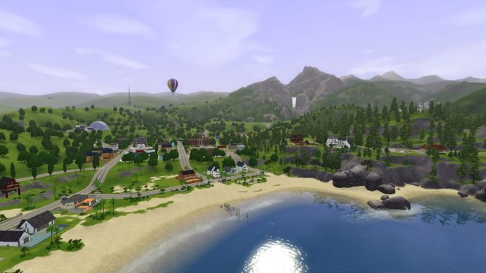 Sunset Valley in The Sims 3