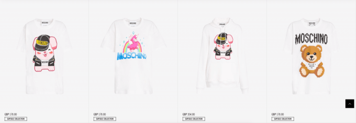 Moschino x The Sims products