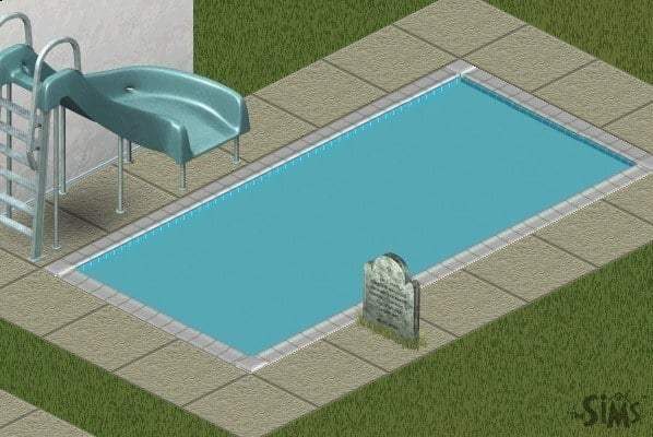 Swimming pool in The Sims