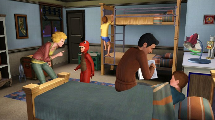 Bunk beds and reading to children in The Sims 3 Generations
