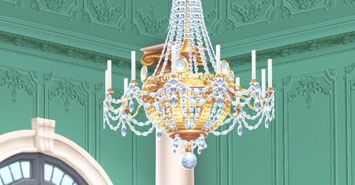 A golden chandelier