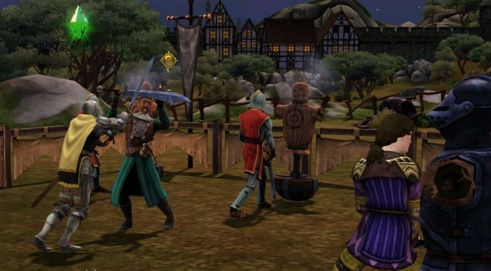 A fight in The Sims Medieval
