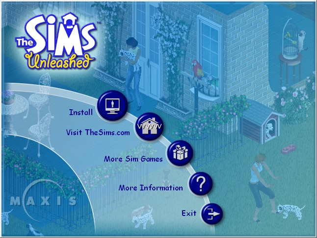 Sims 1 game launcher