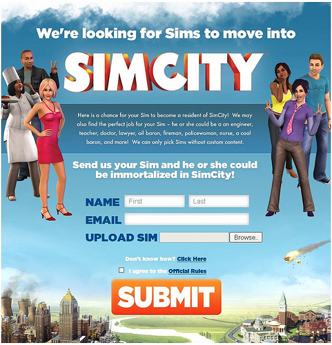 Submit Your TS3 Sims For The New SimCity!!!