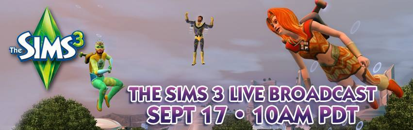 The Sims Live Broadcast (17th September)