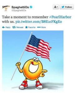 Uh Oh Spaghettios! BIG Pearl Harbor Day Tweet BrouHaHa