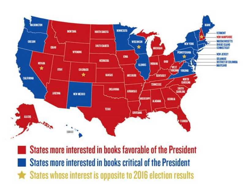 Map: Red vs Blue Americans' Political Books