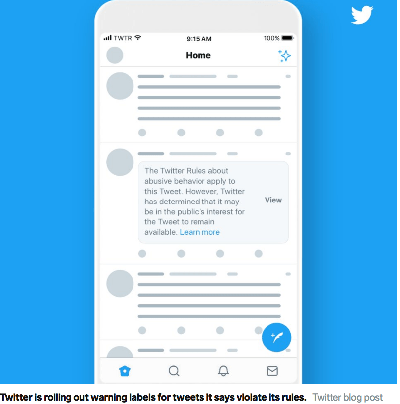 Twitter failed to institute its own policy