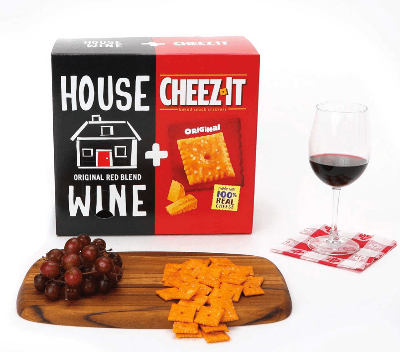 Boxes of House Wine + CheezIt sold out in an instant