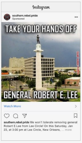 Russian Facebook Ad - Southern Heritage Ad