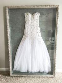 wedding dress framed - Beyond Storage