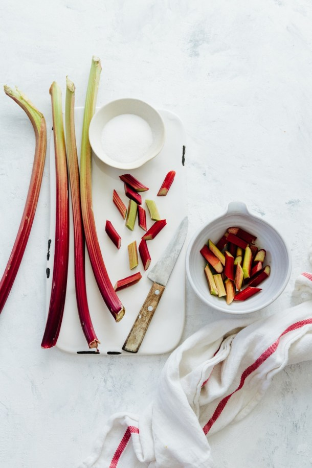 rhubarb for orange blossom panna cotta