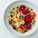 Blood orange halloumi quinoa salad