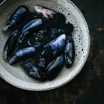 Mouclade French mussels in cream sauce and curry