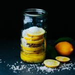 a jar of preserved Meyer lemons