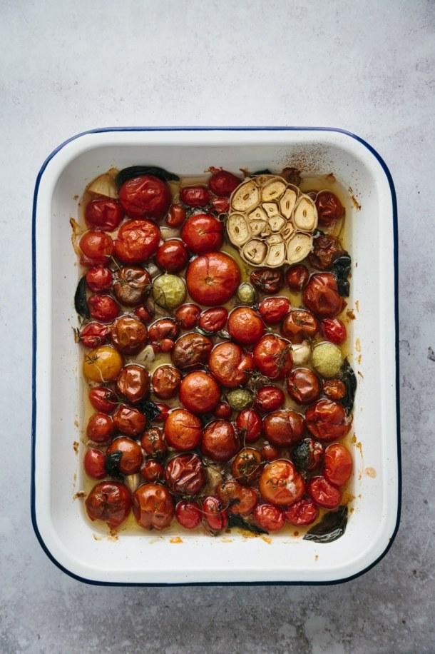 tray of tomato confit