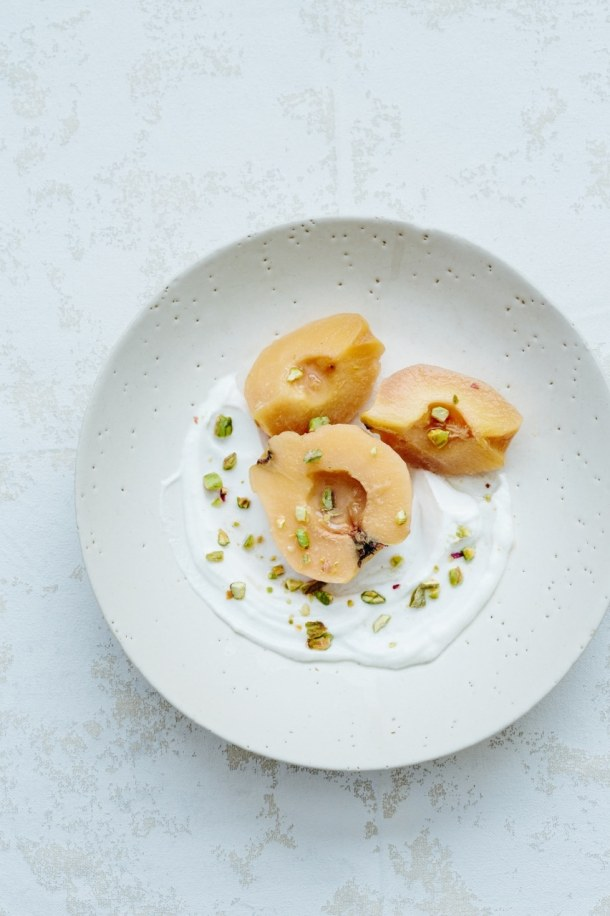 cardamom poached quince