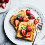 Strawberry mascarpone French toast