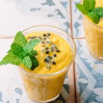 Passion fruit mango and mint lassi