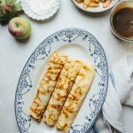 Salted caramel crepes with sauteed apples