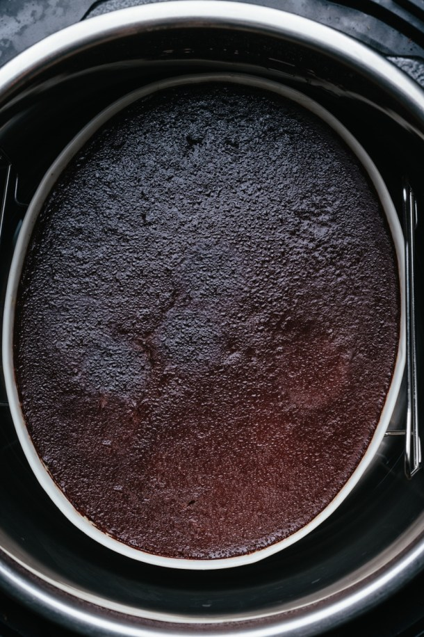 chocolate pudding in the Instant Pot