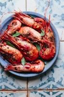 a plate of Vietnamese tamarind prawns