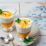 Coconut Mango Sago Pudding (Tapioca Pudding)