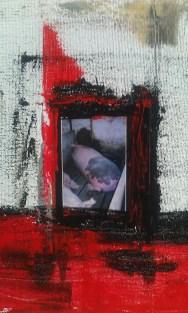"""Mercy"" Mixed media on canvas By Cat Jones"