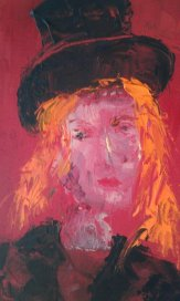Portrait from Another Time. Oil on board.