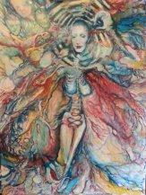 """Salvia Divinorum"" Oil on canvas By Cat Jones"