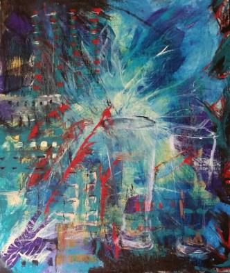 Ringside to the Revolution. Oil on canvas board. Cat Jones